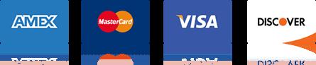 Amex - MasterCard - Visa - Discover