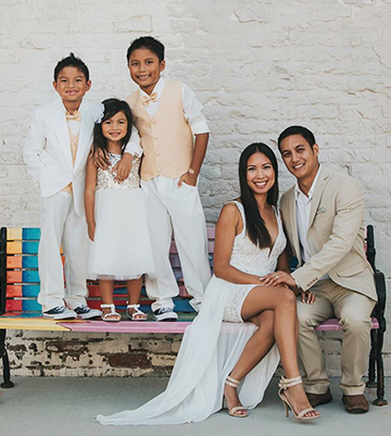 Dr. Gutierrez with his family
