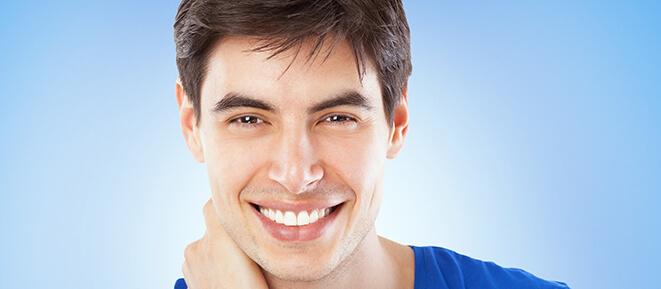 man with bright, white smile