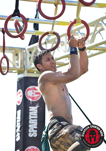Dr. Gutierrez competing in the Spartan race